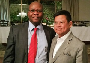 FORGING RELATIONS: (Right) Philippines Ambassador to South Africa, Mr Joseph Gerard B. Angeles with South Africa Maritime Safety Authority (SAMSA) Centre for Maritime Excellence Projects Coordination Senior Manager, Morakabe Seakgwa