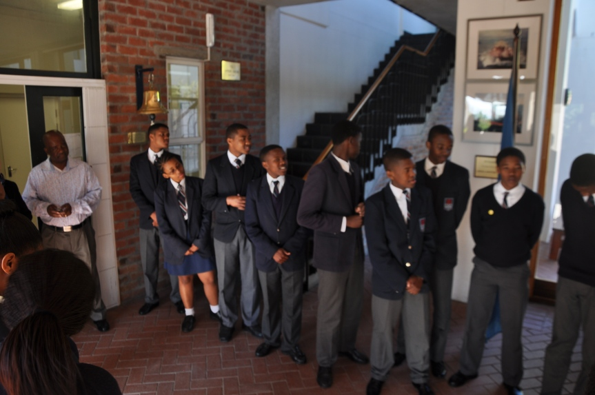READING MARITIME! A group of Lahwill Maritime Centre foundational (high school) students some of whom are supported by SAMSA