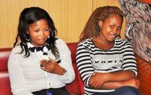 FEMALE CADETS: (From Left )Apiwe Zozi and Busiswa Majamane.