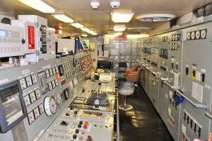 THE CONTROL ROOM: One of the control centres used by engineers inside the SA Agulhas