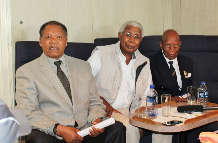 AVENTURA VETERANS: (From Left) ANC MK veterans taking part in the first of a possible series of discussions on South Africa's Maritime Heritage are , Fanele Mbali, 78; Rankabele Tloo Cholo, 89; and Zolile Nqose 9.
