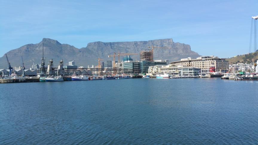 The sea location at the port of Cape Town near V&A Waterfront where the inaugural SA Ocean Festival takes place at end of October 2015.