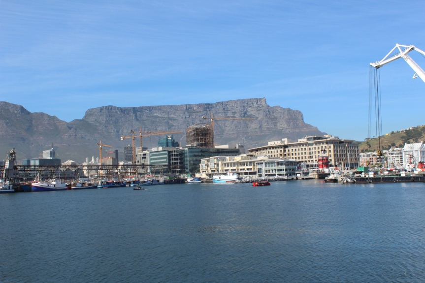The port of Cape Town, one of the country's busiest of seven commercial ports dotted along South Africa's 3900km long coastline.
