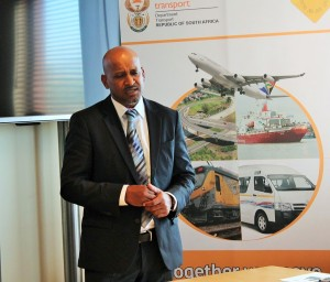 Transnet's National Ports Authority (TNPA) CEO, Mr Richard Vallihu giving assurances to the meeting about NPA's commitment to stick to deadlines for earmarked oil and gas infrastructure development at the port of Saldanha during Monday/s first of week long Presidential Imbizos