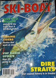 Front page of the Jan/Feb 2015 issue of the Ski-Boat magazine