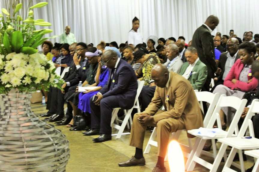Mourners attending Ms Sindiswa Nhlumayo's memorial service in Pretoria on Thursday, February 18, 2016