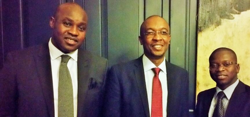 BREAKING GROUND: Senior SAMSA officials Collins Makhado (Left) and Benard Bobison-Opoku (Right) with Mayor of Johannesburg City, Parks Tau at the conclusion of a ceremony on Tuesday to dispatch a number of youths for maritime economic sector jobs training. The youth selected youth group will be trained as cadets on international vessels over a period of time.