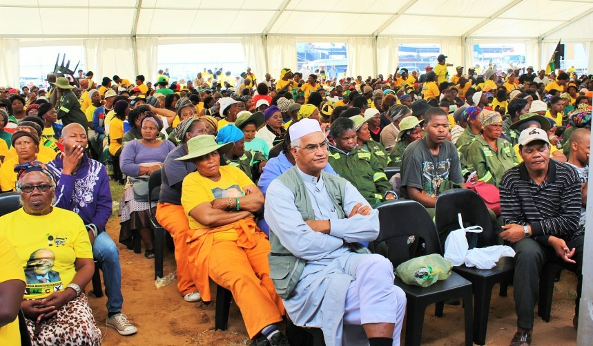 Operation Phakisa (Ocean Economy) Progress Report: Part of the audience of 10 000 people that came to listen to President Jacob Zuma's report at the port of Port Elizabeth on Friday, 08 April 2016.