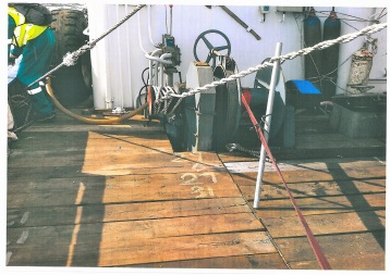 A second image taken by SAMSA investigators aboard the Chinese vessel arrested in Cape Town and which show the condition of some of the water and oil management pipeline on the vessel.