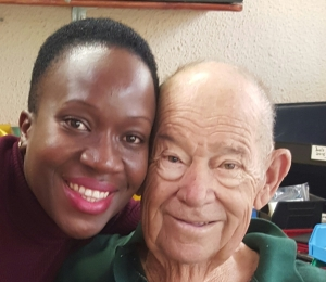 REMEMBERED FONDLY: (From Left) South African Maritime Safety Authority (SAMSA) Centre for Boating Manager, Ms Constance Nengovhela with the late Mr Walter two months prior to his passing away recently.