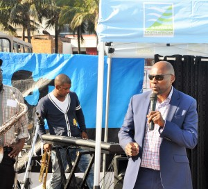 Mr Sobantu Tilayi, acting Chief Executive Officer, South African Maritime Safety Authority (SAMSA) during celebration of the International Day of Seafarers in Durban on Saturday, 25 June 2016.