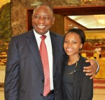 Deputy President Cyril Ramaphosa with Khentse Sendra Matshira