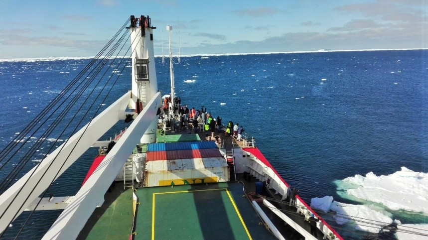 File Photo: The SA Agulhas during one of its regular research voyages in the southern oceans towards the Antarctica