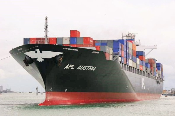 The APL Austria cargo vessel (Photo: Courtesy of