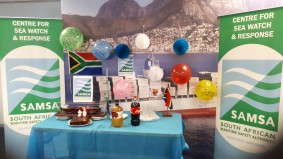 SAMSA 20th - SWR - cake, candles, logo, SA flags, vuvuzela, model ship,balloons, mountain, etc.