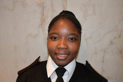 Miss Lelethu Ntuzula. A Deck Cadet