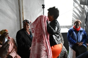 Deputy Minister of Transport, Sindisiwe Chikunga hands over blankets and more boats to Enkovukeni community in KwaZulu Natal